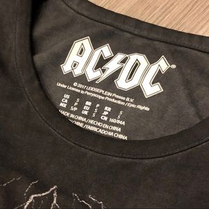 Forever 21 Tops - FOREVER 21 AC/DC Band Bodysuit Size S NWT